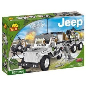 New! COBI Jeep Willys Winter Squad Jeep 250 Piece Building Block Set ブロック おもちゃ