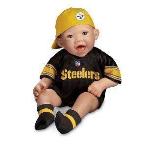 NFL Pittsburgh Steelers Commemorative Baby Doll by Ashton Drake ドール 人形 フィギュア