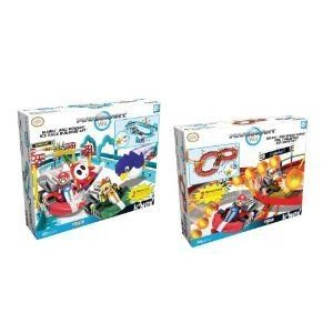 Nintendo K'NEX (ケネックス) Mario and Bowser Ice Race/Mario and Diddy Kong's Fire Challenge Buildi