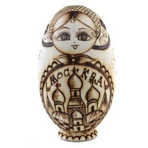 NuoYa001 Babushka Dolls 6PCS Branded Engraved Wooden Russian Nesting Doll Dried basswood ドール 人