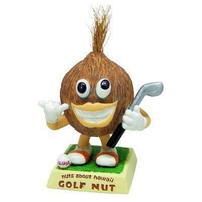 Nuts About Hawaii Bobble Head バブルヘッド / Golfer / 3 フィギュア ダイキャスト 人形
