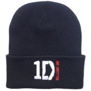 One Direction (ワンダイレクション) Wool Hat Knitted Hat Hiphop Cap 黒 フィギュア おもちゃ 人形