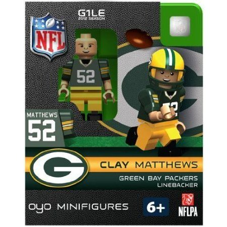 OYO Football NFL Building Brick Minifigure Clay Matthews [緑 Bay Packers] ブロック おもちゃ
