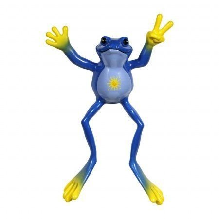 Peace Frogs Night and Day: 6 Inch Bendable Froggy Figure フィギュア ダイキャスト 人形