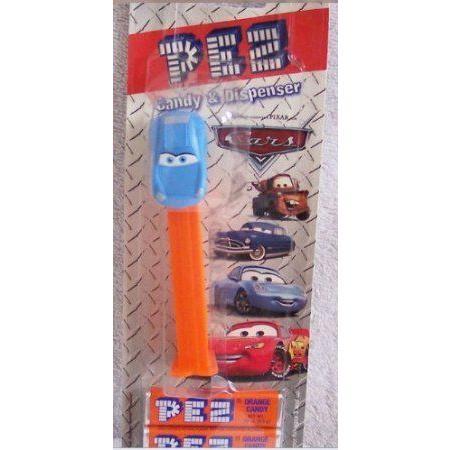 PEZ DISNEY CARS (カーズ) LIGHTNING MCQUEEN CANDY & DISPENSER ON BLISTER CARD SET フィギュア おもち