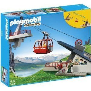 Playmobil 5426 Alpine Cable Car with 4 People, 6 feet Rope and much more