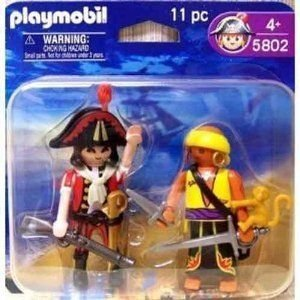 Playmobil 5802 Pirate Captain & Pirate with Monkey
