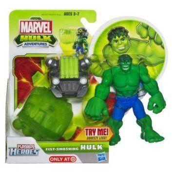 Playskool Heroes Marvel (マーブル) Hulk Adventures Fist-Launching Hulk フィギュア 人形 フィギュア