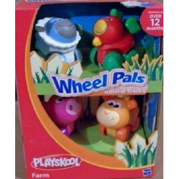 PLAYSKOOL Wheel Pals Animal Tracks Farm - Rooster, Sheep, Pig, Cow