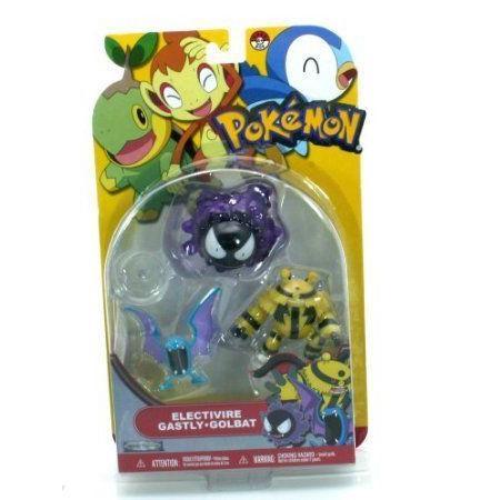 Pokemon (ポケモン) Golbat, Gastly, & Electivire アクションフィギュア Set