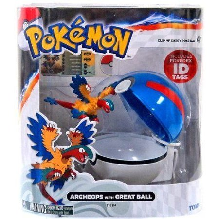 Pokemon (ポケモン) TOMY Clip 'n Carry Poke Ball Archeops & Great Ball