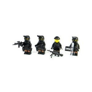 Police SWAT Team - Battle Brick Custom Minifigure Knee Pads ブロック おもちゃ