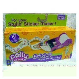 Polly Pocket Stylin' Sticker Maker Refill Pack ドール 人形 フィギュア
