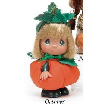 Precious Moments Mini Moments 5-1/2 Vinyl Doll Calendar Cutie October ドール 人形 フィギュア
