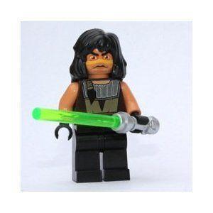 Quinlan Vos w 緑 Lightsaber (Lego (レゴ) Star Wars (スターウォーズ) Minifigure) ブロック おもち