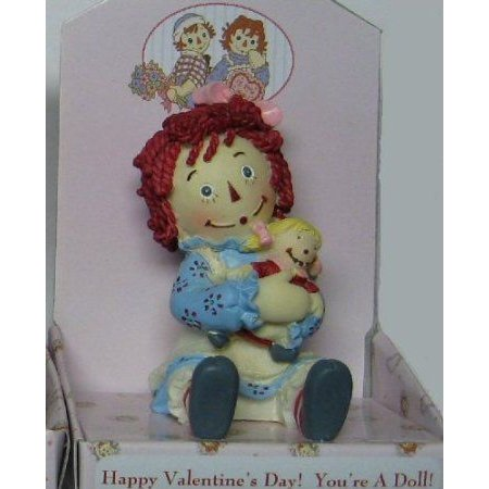 Raggedy Ann Holding Doll Valentine Figurine by RUSSR Happy Valentine's Day! You're A Doll! ドール