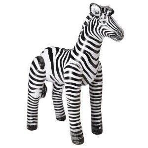 Realistic Inflatable Animal Zebra 56 Tall Safari Decor Toy フィギュア おもちゃ 人形