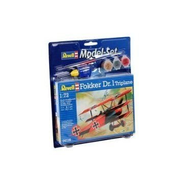 Revell Fokker Dr.1 Triplane Model Set フィギュア おもちゃ 人形