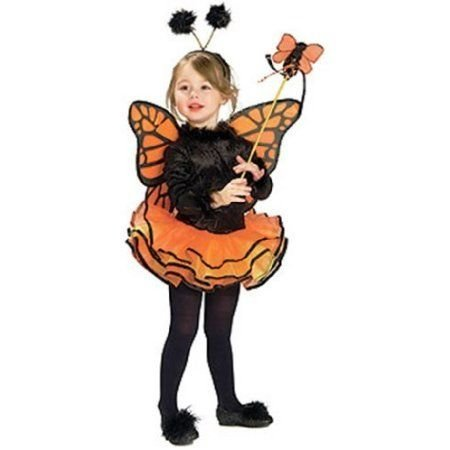 Rubie's Child's Costume, オレンジ Butterfly Costume-Small by Rubies TOY ドール 人形 フィギュア