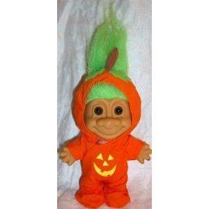 Russ Berrie (ラスベリー) Good Luck Troll 6 Halloween Pumpkin Doll Toy フィギュア おもちゃ 人形