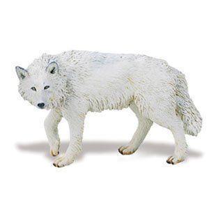 Safari 220029 白い Wolf Animal Figure- Pack of 6 フィギュア 人形 おもちゃ