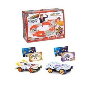 Scan 2 Go Figure 8 Racetrack Plus 2 Cars Bundle (F&W cars) ミニカー ミニチュア 模型 プレイセット自