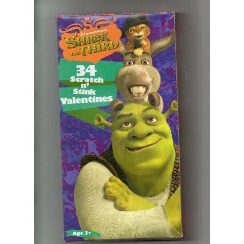 Shrek シュレック the Third: 34 Scratch n' Stink Valentines (7 Swamp-tastic, Scratch n' Stink Desig