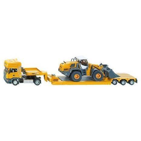 Siku (ジク) Heavy Transport トラック with Front End Loader ミニカー ミニチュア 模型 プレイセット自