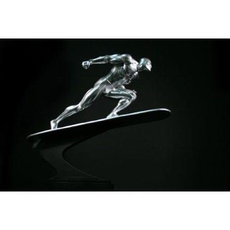 銀 Surfer Action Statue by Bowen Designs! フィギュア おもちゃ 人形