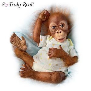 Simons Laurens Baby Babu: 16 Collectible Orangutan Baby Doll by Ashton Drake ドール 人形 フィギュ