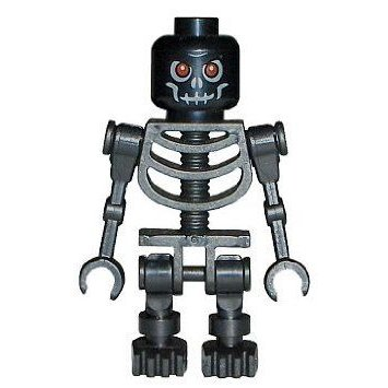 Skeleton (黒) - LEGO (レゴ) Castle Minifigure ブロック おもちゃ