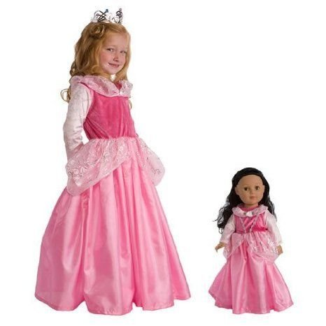 Sleeping Beauty Dress & Crown with Matching Doll Dress- Medium ドール 人形 フィギュア
