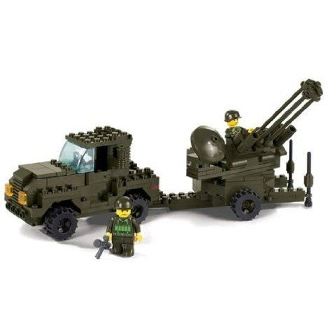 SLUBAN M38-B7300 Air Force Anti-Aircraft Artillery Assembly Puzzle Toy ブロック おもちゃ