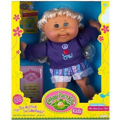 Slumbertime Girl Cabbage Patch Kid (Straight Blonde Hair) ドール 人形 フィギュア