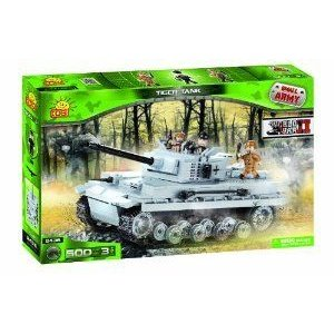 Small Army, World War II, Tank Tiger, armo赤 unit, building bricks フィギュア おもちゃ 人形