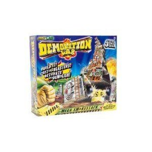 SmartLab Toys Demolition Lab: Mega Smokestacks ブロック おもちゃ