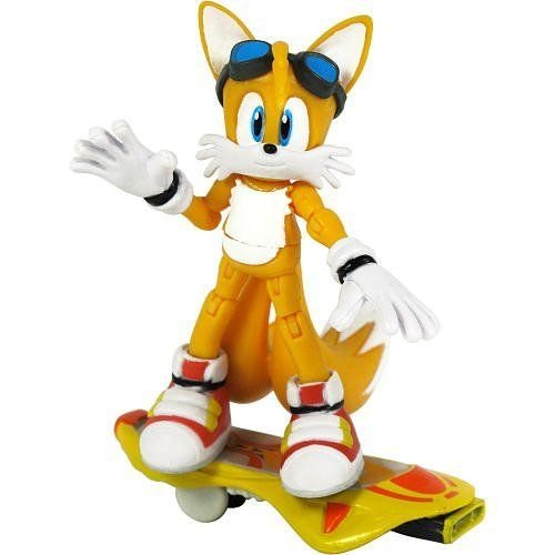 Sonic Free Riders 3.5 Inch Action Figure Tails フィギュア ダイキャスト 人形