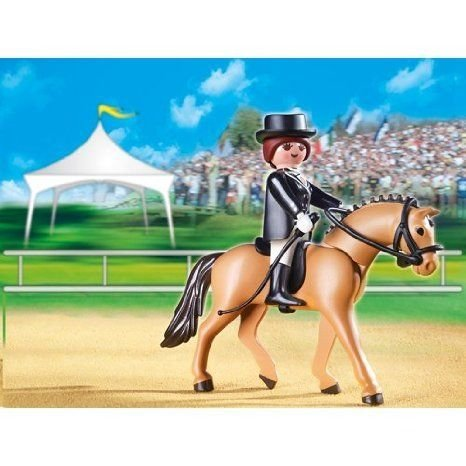 Sport Horse w/ Dressage Rider & Stable - Playmobil