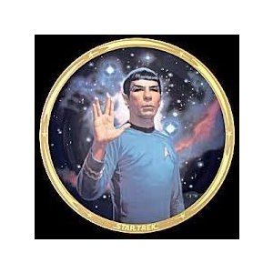 STAR TREK LIMITED EDITION CERAMIC COLLECTOR PLATE : SPOCK 25 Anniversary フィギュア おもちゃ 人形
