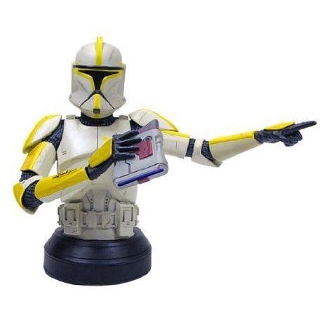 Star Wars (スターウォーズ) : Clone Trooper Commander (黄) Deluxe Mini-Bust フィギュア おもちゃ