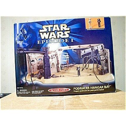 Star Wars (スターウォーズ) Episode I Action Fleet Pod Racer Hangar Bay Playset
