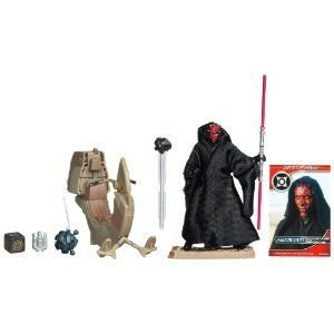 STAR WARS SITH SPEEDER VEHICLE WITH DARTH MAUL フィギュア SET ACTION TOY FOR BOYS