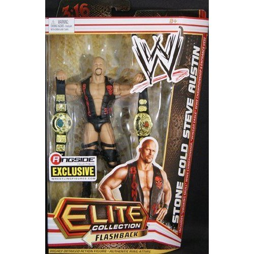 STONE COLD STEVE AUSTIN TEXAS RATTLESNAKE - RINGSIDE COLLECTIBLES ELITE EXCLUSIVE MATTEL TOY WREST