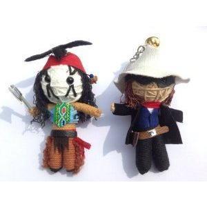 String Doll World - String Doll Keychain - The Lone Ranger & Tonto Set ドール 人形 フィギュア