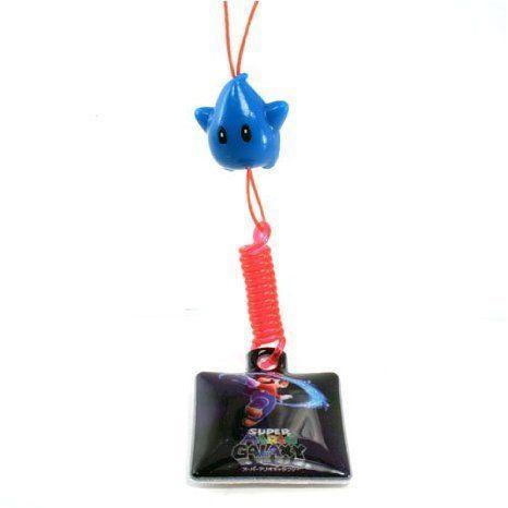 Super Mario (スーパーマリオ) Galaxy Mascot Strap & Screen Wiper - 青 Star Spinning Mario フィギ