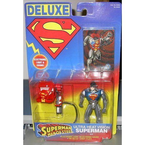 SUPERMAN ULTR HEAT VISION w/ ELECTRIC LIGHTS & SOUNDS フィギュア ダイキャスト 人形