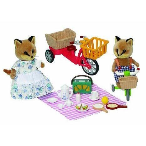 Sylvanian Families Bikes & Picnic Set ドール 人形 フィギュア