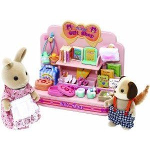 Sylvanian Families Village Gift Shop with 2 フィギュアs