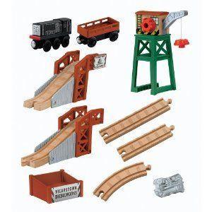 Thomas & Friends (きかんんしゃトーマス) Wooden Railway Figure 8 Diesel Works プレイセット ミニカー