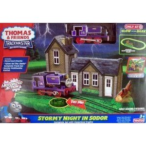 Thomas and Friends (きかんんしゃトーマス) Glow in the Dark Stormy Night in Sodor Complete Set with